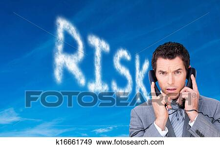 Immagine Composita Di Arrabbiato Uomo Affari Groviglio Su In