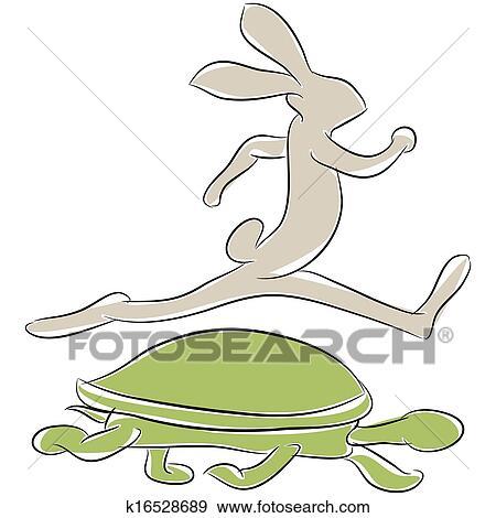 Clipart tortue et li vre course k16528689 recherchez des cliparts des illustrations des - Clipart tortue ...