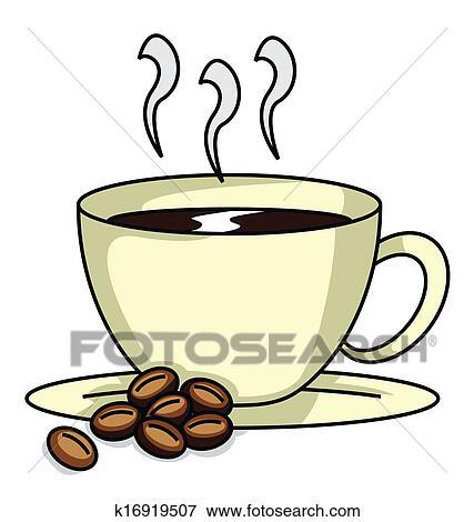 clip art kaffeetasse k16919507 suche clipart poster illustrationen zeichnungen und eps. Black Bedroom Furniture Sets. Home Design Ideas