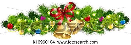 clipart weihnachten tanne girlande k16960104 suche. Black Bedroom Furniture Sets. Home Design Ideas