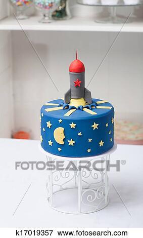 Bild Kinder Kuchen Rakete Dass Blau K17019357 Suche