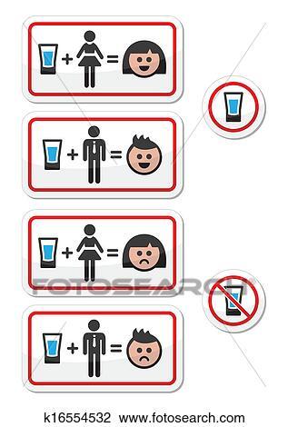 Clipart Leute Trinken Alkohol Traurig Und H K16554532