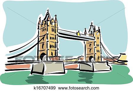 London Tower Bridge Clip Art K16707499