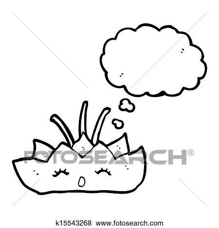 Lotus Flower Cartoon Character Stock Illustration K15543268