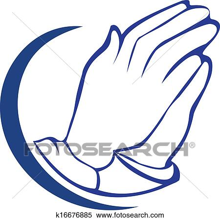 Maos Orando Silueta Logotipo Clipart K16676885 Fotosearch
