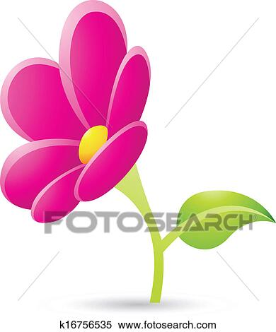 Clipart of magenta flower icon k16756535 search clip art illustration of magenta flower icon isolated on a white background mightylinksfo