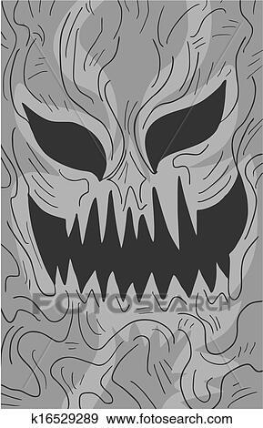 Mask Terror Clip Art