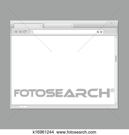 clipart of modern web browser template ready for a content