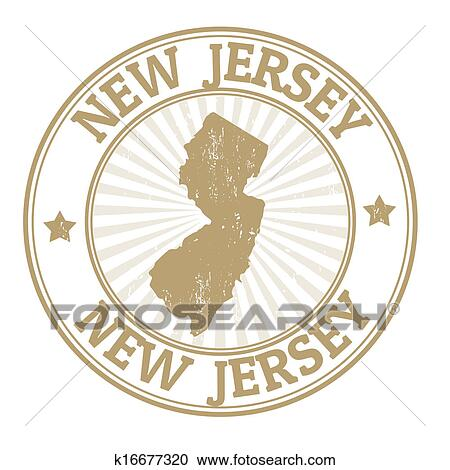 Clipart Of New Jersey Stamp K16677320