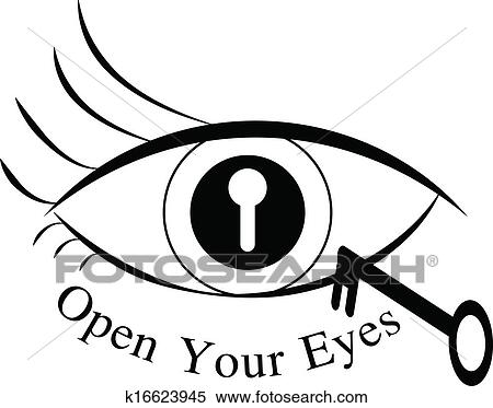 Clipart Of Open Your Eyes K16623945