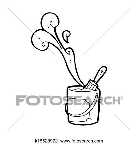 Clip Art Of Paint Tin Cartoon K15528972