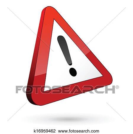 clipart panneau de signalisation danger k16959462 recherchez des clip arts des. Black Bedroom Furniture Sets. Home Design Ideas