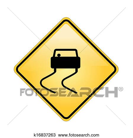 Drawing Of Road Signs And Symbols K16837263 Search Clipart