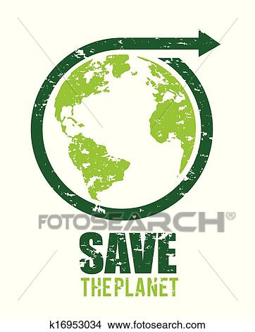 Clipart   Save The Planet. Fotosearch   Search Clip Art, Illustration  Murals, Drawings