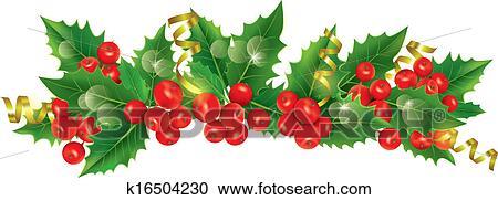 sch n weihnachtsgirlande clipart k16504230 fotosearch. Black Bedroom Furniture Sets. Home Design Ideas
