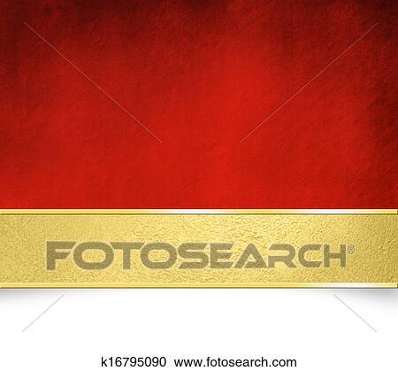 Sfondo Rosso Con Dorato Bandiera Clipart K16795090 Fotosearch