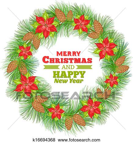 Disegni Di Natale Vettoriali.Stella Di Natale Wreath Clip Art