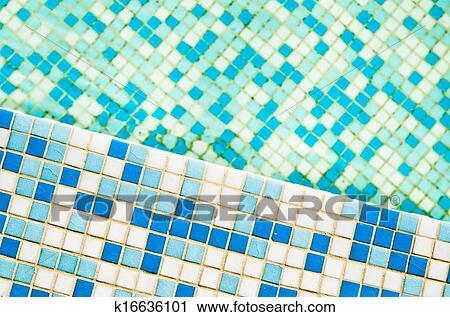 Swimming pool tile, close-up Stock Image