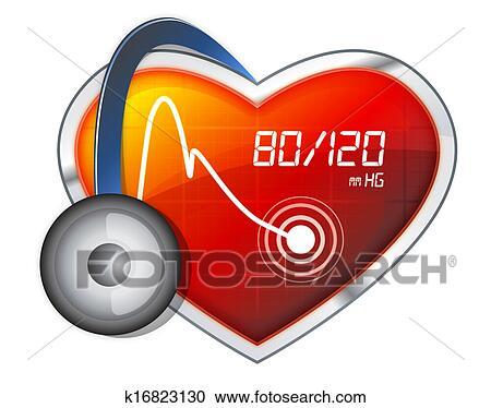Tension artérielle, contrôler Clipart - k16823130 - Fotosearch