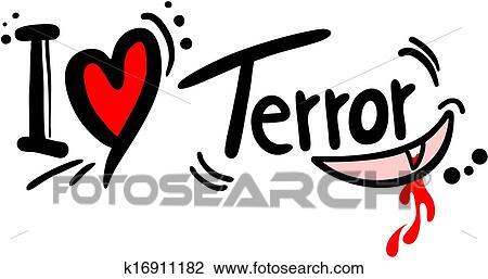Terror Liebe Clipart K16911182 Fotosearch