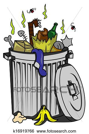 clip art of trash can k16919766 search clipart illustration rh fotosearch com trash can clipart black and white trash can clipart images