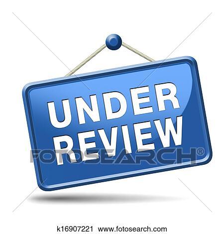 Under review Clip Art