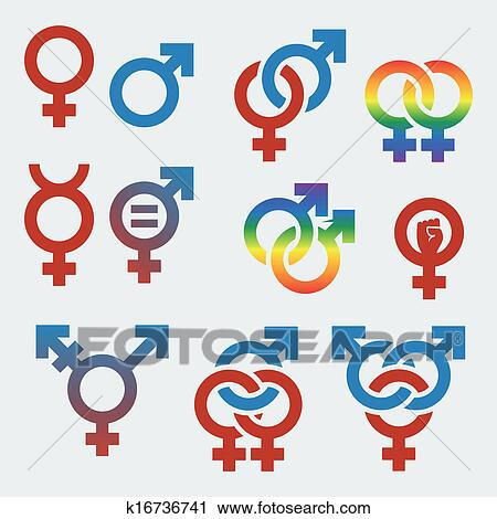clipart of vector symbols of sexual orientation and gender k16736741