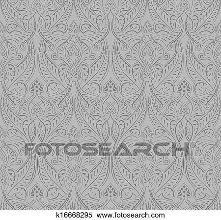 Clipart Of Vintage Middle Eastern Arabic Pattern K60 Search Custom Middle Eastern Patterns