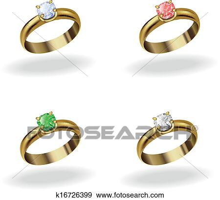 Clip Art Of Wedding Ring K16726399 Search Clipart Illustration