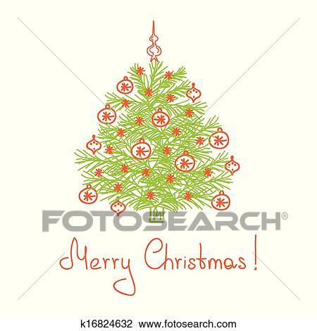 Weihnachtsbaum Gezeichnet.Weihnachtsbaum Gezeichnet Per Hand Clipart