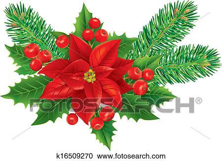 Clipart Weihnachtsdeko K16509270 Suche Clip Art Illustration
