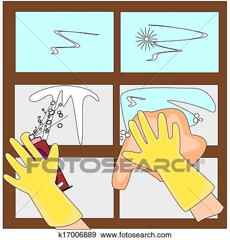 clip art of window cleaner k17006889 search clipart