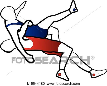 clipart of wrestling suplay throw vector k16544180 search clip art rh fotosearch com