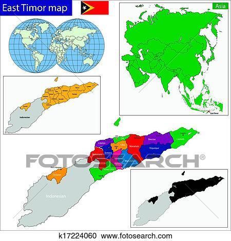 øst timor kart Utklipp   øst, timor, kart k17224060   Søk utklipp
