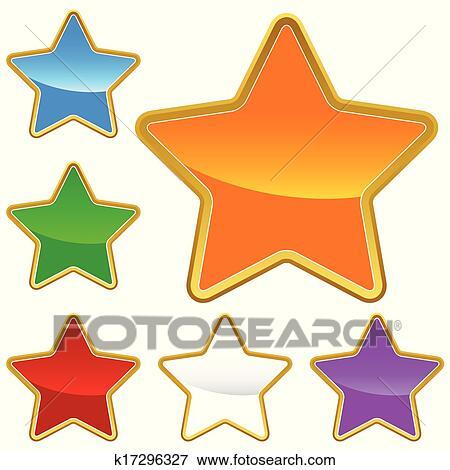 أداة تعريف إنجليزية غير معروفة أجبر العظم بسبب النجوم Clip Art K17296327 Fotosearch