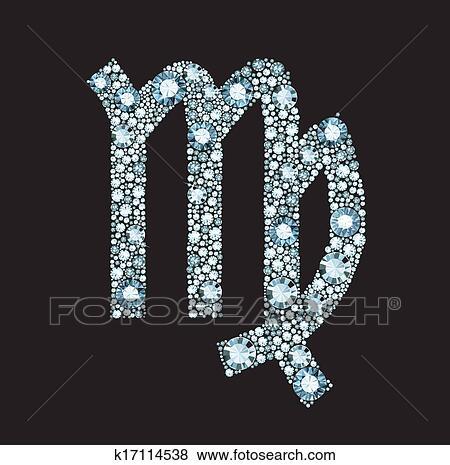 الماس برج العذراء رمز Clip Art K17114538 Fotosearch