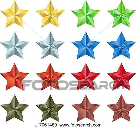 النجوم الجمع Clip Art K17061489 Fotosearch