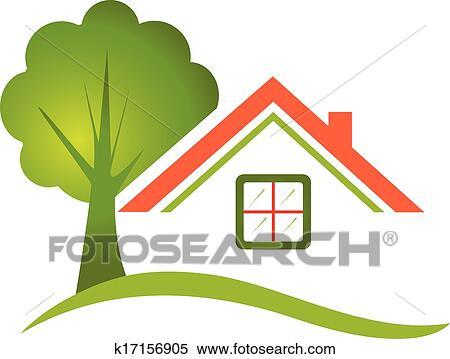 家 木 ために 不動産 ロゴ クリップアート切り張りイラスト