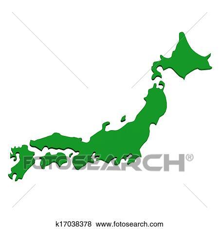 日本 地図 上に 白 イラスト K17038378 Fotosearch