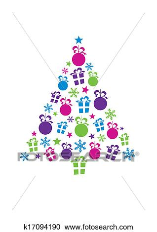 Abstract Christmas Tree Clipart K17094190 Fotosearch