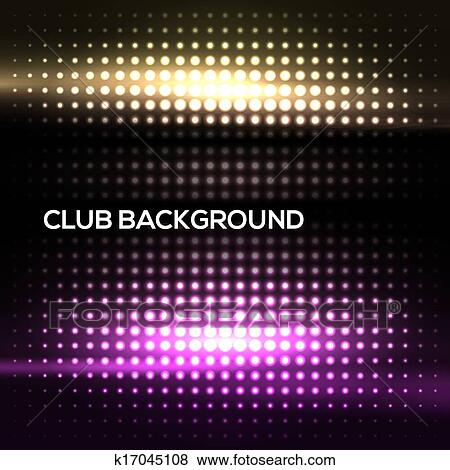 Abstract Colorful Disco Club Background Clip Art K17045108