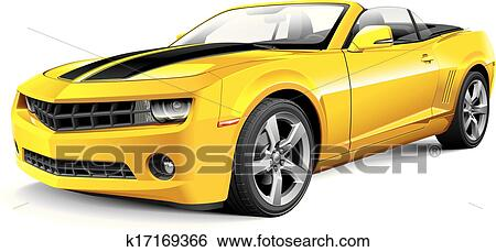 Clip Art Of American Muscle Car Convertible K17169366 Search