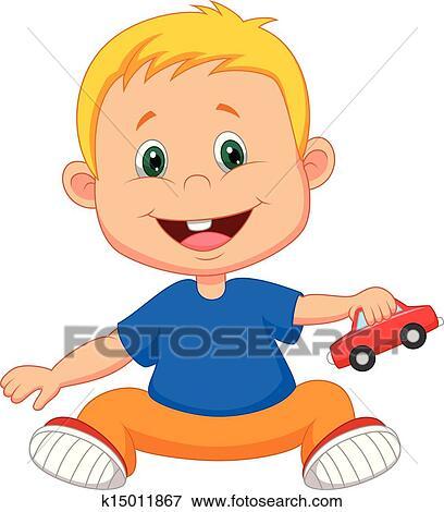 b b dessin anim jouer voiture jouet clipart k15011867. Black Bedroom Furniture Sets. Home Design Ideas