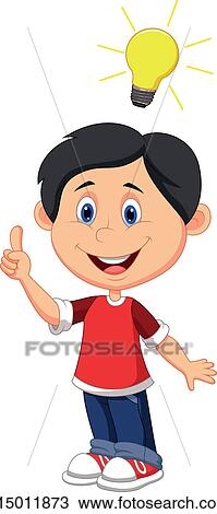 Boy Coming Up With A Good Idea Royalty Free Cliparts, Vectors, And Stock  Illustration. Image 16511101.