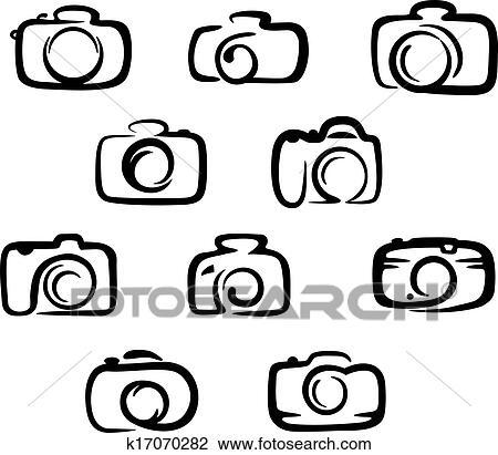 Camera Icons Set Clipart K17070282