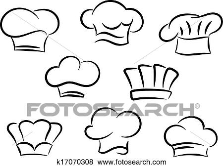 Clip Art of Chef and cook hats set k17070308 - Search Clipart ... 1b5822b56ef8