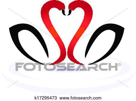 Clipart Cigni Amore Logotipo K17295473 Cerca Clipart