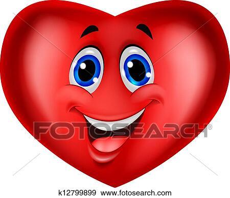 Clip art cuore rosso cartone animato k12799899 cerca for Clipart cuore