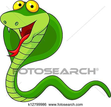 clip art of cute cobra cartoon k12799986 search clipart rh fotosearch com free cobra clipart cobra head clipart
