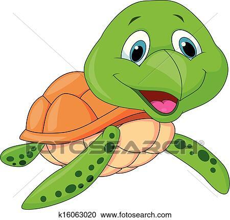 clipart of cute sea turtle cartoon k16063020 search clip art
